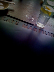 A table at Kate Mantilini Beverly Hills is a good spot for a power pitch. Happens every day.