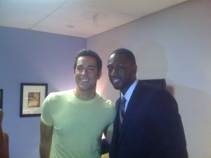 Zac Levi and Dwyane Wade backstage at The Tonight Show (09/10)